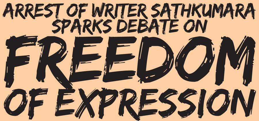 Daily Mirror - Arrest of writer Sathkumara sparks debate on