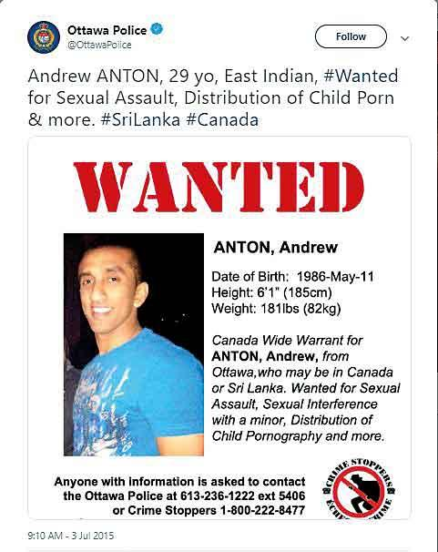 Daily Mirror - Can this wanted suspect employed in Sri Lanka