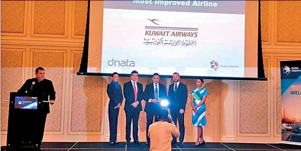 kuwait airways awarded most improved airline award for year 2015