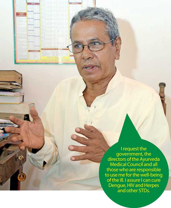 Daily Mirror - Ayurvedic doctor claims he can successfully treat