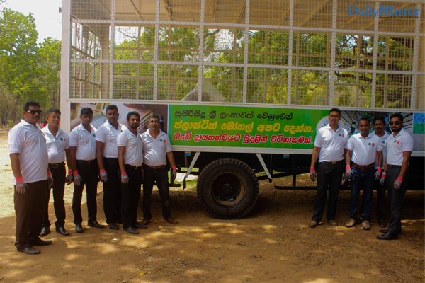 The collective team of volunteers comprising of the local authorities and the Kataragama Environmental Society (from the Kataragama Committee), Beira Enviro Solutions and Coca-Cola Beverages Sri Lanka Ltd.