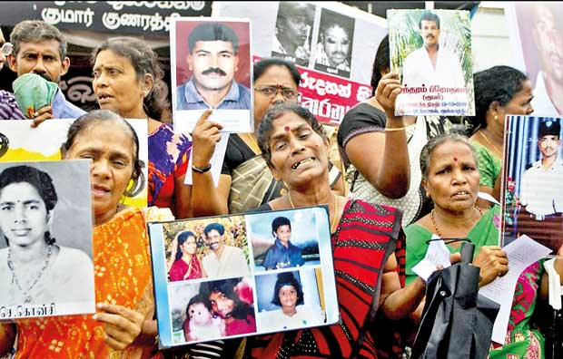 Image result for Sri Lanka - Tamil Leaders Slam Move to Further Postpone Ratification of Disappearances Convention