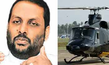 Amaraweera refuses helicopter, returns on SLAF flight