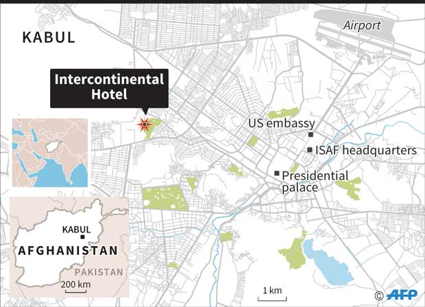 Kabul Intercontinental Hotel siege ends, all gunmen killed: Govt ...
