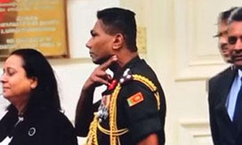 Brigadier Priyankara Fernando arrives