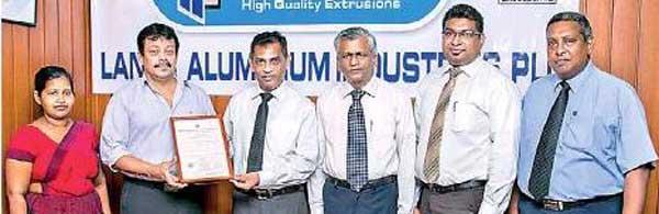 Daily Mirror - Lanka Aluminium Receives SLS Certification